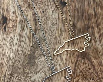 North Carolina Necklace*Silver North Carolina Necklace*Gold North Carolina Necklace