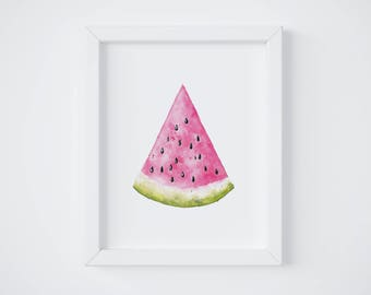 Watermelon Poster, Decor, Kid's Room, Baby, Birth Gift