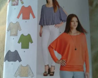 New sewing pattern. Simplicity 8089. Jersey knit top batwing slash sleeves sizes 8089