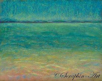 Seascape Original Pastel Painting