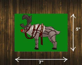 Stitchimals - Stitched Reindeer Print!