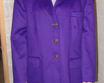 Escada Purple Rabbit and Wool Jacket