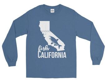 Fish California Fishing Long Sleeve T-shirt   Fishing Apparel
