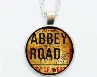Abbey Road Pendant Necklace / Earrings / Ring / Pin Badge Vintage Liverpool The Beatles Gift