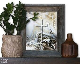 Religious Cross, Religious Art, Spiritual Art, Christian Home Decor, Christian Wall Decor, Religious Decor, Religious Wall Art