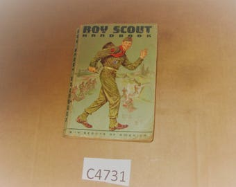 Boy Scout Handbook dated 1962 with 1963 supplement    [c4731o]