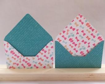 Set of 16 mini envelopes