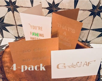 4-Pack Variety Batch B greeting cards