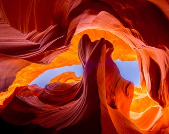The Rock Formation at Antelope Canyon
