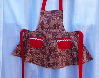 Holiday Sparkley Apron for a Child Size 6-9 Years