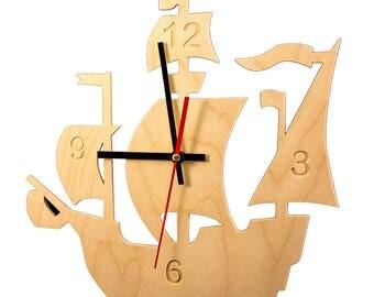 Piratenschip wandklok, Piet Hein zou er jaloers op zijn!