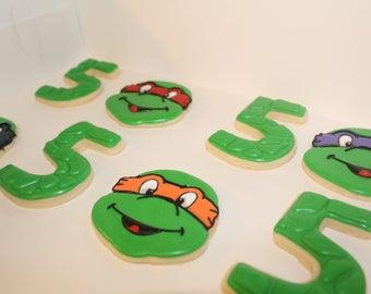 One Dozen Ninja Turtle Sugar Cookies