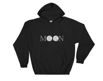 Litecoin hoodie moon • Bticoin Clothing • Cryptocurrency hoodie • Hoodie Bitcoin • Ethereum hoodie • Bitcoin hoodie