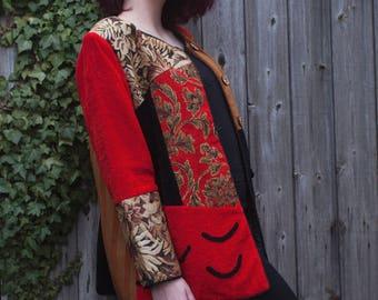 Vintage patchwork oversized jacket - Size M/L
