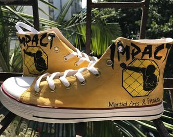 Custom Converse AllStar High Tops Chucks High Top Sneakers Made to Order Hand Painted Sneakers Chucks Taylor