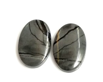 Picasso Jasper Oval Pair Cabochon,Size- 19x12 ,MM,Natural Picasso Jasper, AAA,Quality  Loose Gemstone, Smooth Cabochons.