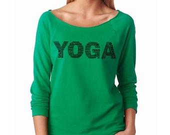 YOGA French Terry 3/4 Sleeve Women T-Shirt