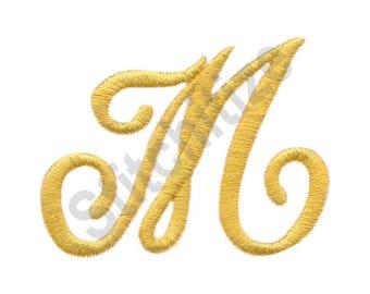 Victorian Alphabet M - Machine Embroidery Design