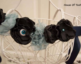 Creepy Stylish Eyeball Flowers Handmade Festival Costume Necklace belt sash