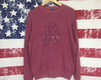 Vintage KENZO homme sweatshirt/kenzo jumper pullover sweatshirt/kenzo big logo sweatshirt/kenzo crewneck sweatshirt/large size