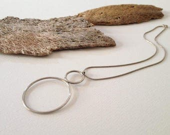 Handmade Sterling Silver Necklace - Artisan, Contemporary, Rough, Hand Forged Jewellery, One-of-a-kind, Unique Gift