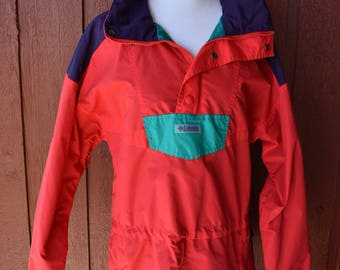 Vintage Colourblock Columbia Jacket // vintage columbia windbreaker
