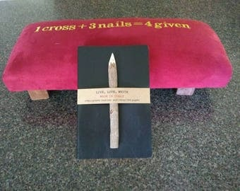 Prayerbench made to order for entire family. Journal sold separately.