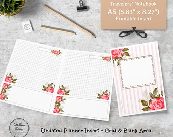 Inserts for A5, A5 TN Inserts, A5 Planner Inserts Printable, Printable A5 Inserts, TN A5 Insert, A5 Planner, Refills for Planner A5, A5 Size