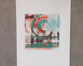 Abstract swirl no.1 monoprint