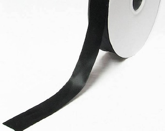 "Yama brand Black color double faced satin ribbon By the 5 or 100 Yards Top Quality Silky Ribbon 3/8"" 9mm 28800"