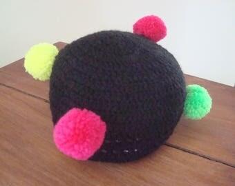 Tassel baby Hat handmade 6-12 months