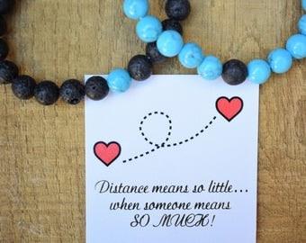 long distance relationship long distance boyfriend gift couple bracelets distance bracelets long distance couples gift beaded bracelet set