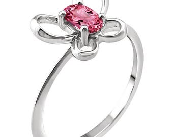 Sterling Silver October Birthstone Ring