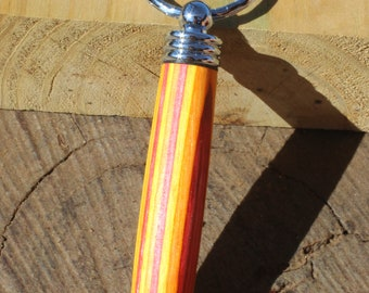 Spectraply wood toothpick holder keychain