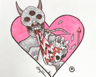 Dead Cupid (Original Drawing)