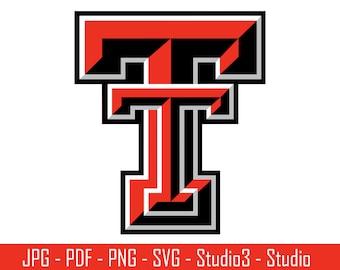 Texas Tech, Red Raiders, College Football, Texas- Cut Files - SVG, PNG, Studio, Studio3 - Silhoutte. Cricut and More - CS041