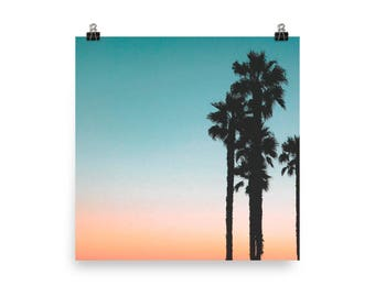 Palm Trees Sunset - Poster