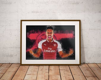 Pierre Emerick Aubameyang - Arsenal - Borussia Dortmund - Aubameyang - Poster - art - English Premier League - Football - Soccer
