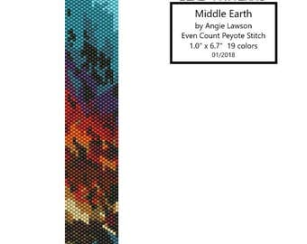 Middle Earth - Peyote Stitch Pattern Download - Even Count