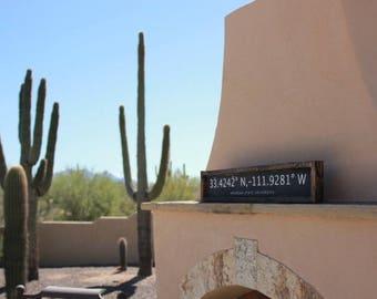 University of Arizona| (UofA) | Longitude and Latitude Sign | Rustic Home Decor | Gift for Him /Her |