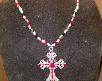 Gorgeous swarovski crystal cross necklace