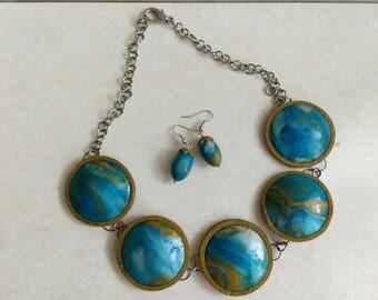 "Handmade jewerly set ""Lapis Lazuli"""