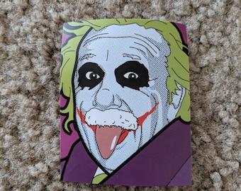Einstein Joker Mashup Sticker