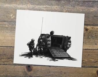 Combat Medic - US Army - Military Art - Medic Print - Gift for Him