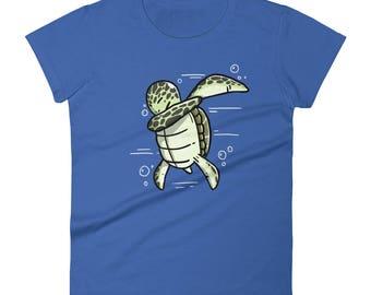 Funny Dabbing Turtle Shirt, Cute Dab Dance Pet Gift, Turtle Women's T-Shirt