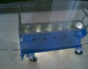 LED Engine Block Coffee Table