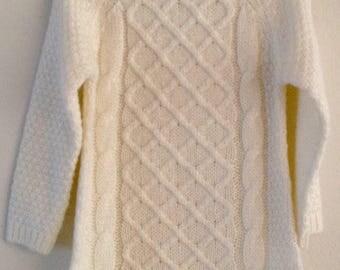 Baby Aran Sweater Dress