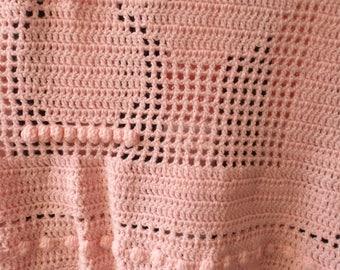 Angel crochet blanket
