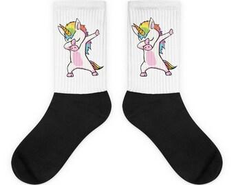 Cute Unicorn Dabbing Dab Dance Socks