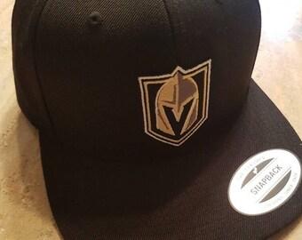 Las Vegas Golden Knights Hat Flat Bill Cap Black Yupoong Classics